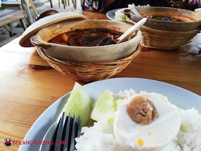Set Nasi Asam Pedas Dengan Telur Masin