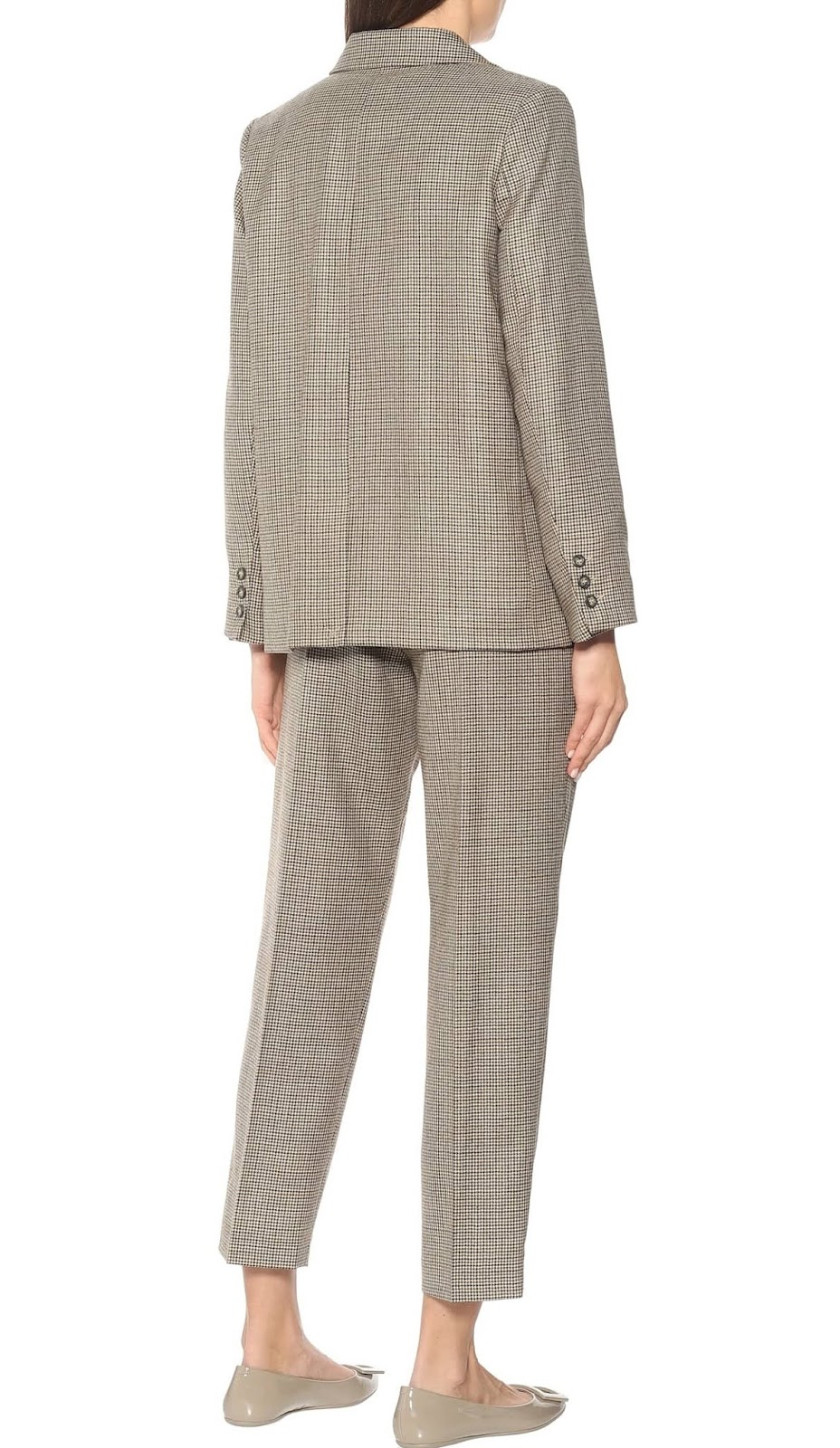 prune checked wool blazer