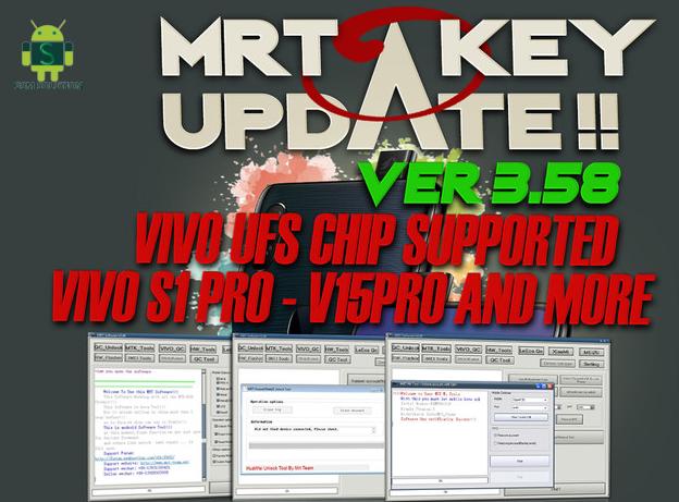 Mrt Key V3.58 Latest Update Download For Vivo S1 Pro V15Pro(UFS Version) X27 PD1838 U20 V17 V17Pro U20