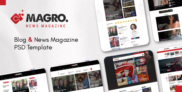 Premium Blog & News Magazine PSD Template