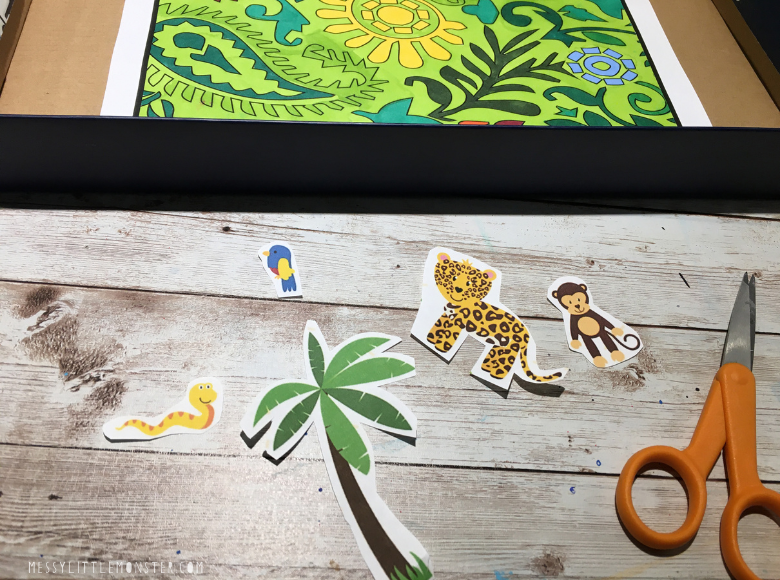 cut out jungle animals for jungle craft