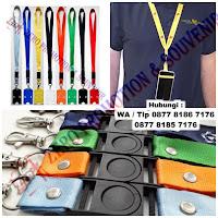 Tali Id polos/ sablon, Tali Name Tag / Lanyard Pro, Jepitan Garis / Plastik, id Card / card Member magnetic kosong, tali HP/USB, Yoyo + Logo Id