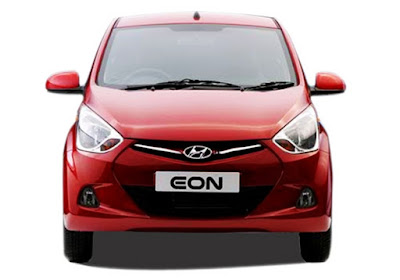 Hyundai EON Red front view