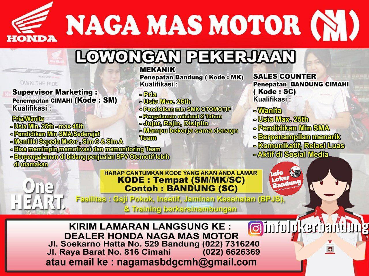 Lowongan Kerja Naga Mas Motor Bandung Desember 2019