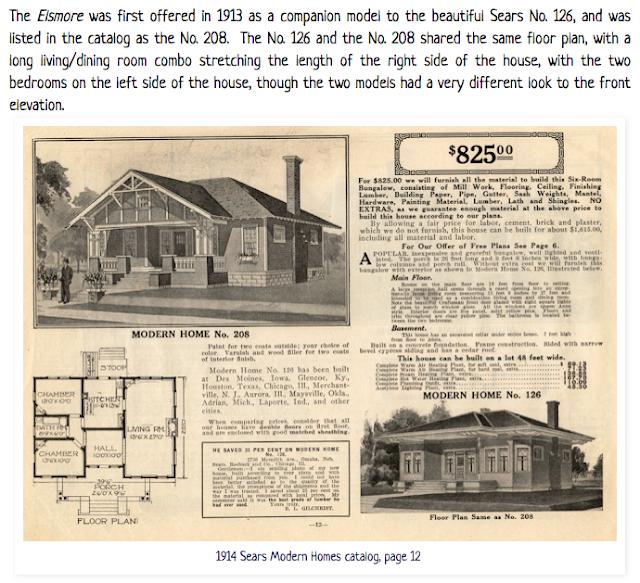 Sears Elsmore 1914 Sears Modern Homes Catalog as Sears model No 208