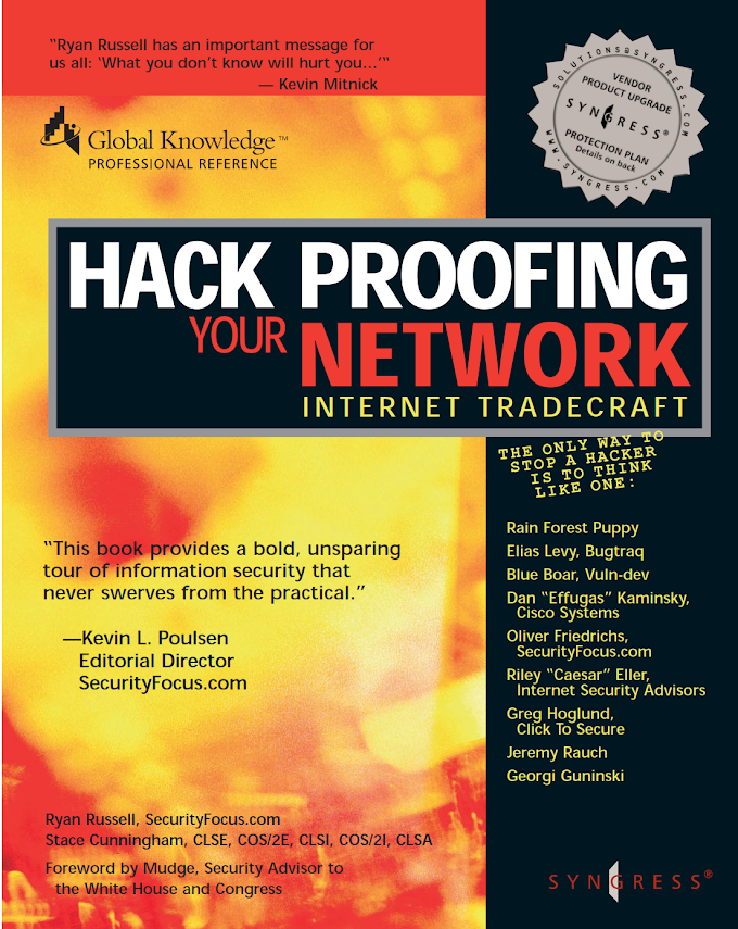 Hack Proofing:Your Network - Internet Tradecraft, Syngress