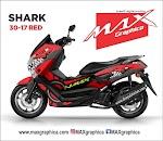 Decal stiker Nmax Shark 1