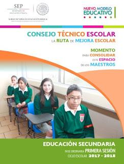 Guías de Consejo Técnico Escolar Primera Sesión CTE 2017 - 2018