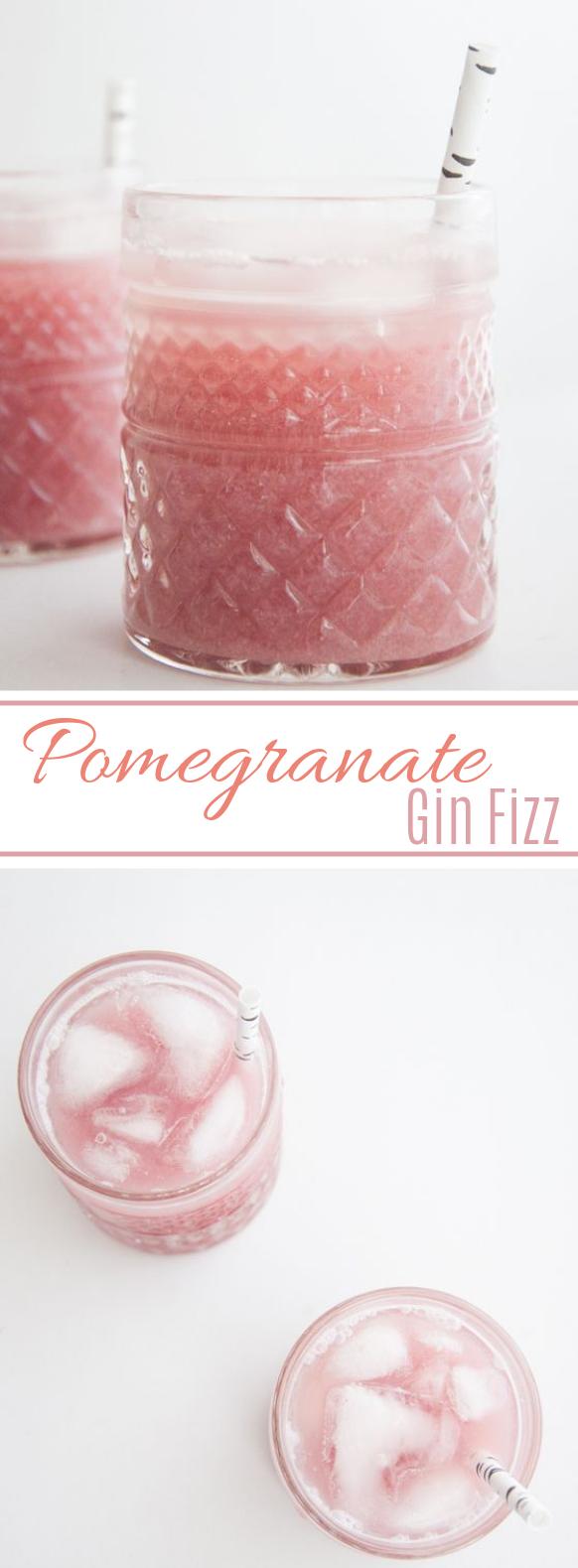 Pomegranate Gin Fizz #valentine's #drink