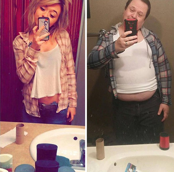 Dad Trolls Her Daughter By Recreating Her Racy Selfies On Instagram, Now He Has More Followers Than His Daughter!