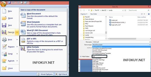 Cara Mengubah Word ke PDF menggunakan MS Office #2