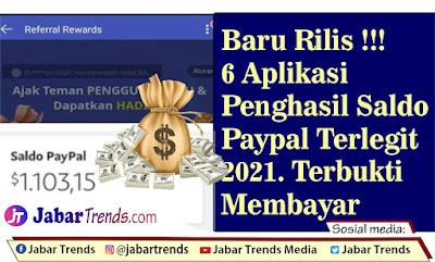 Aplikasi Penghasil Saldo Paypal Terlegit 2021
