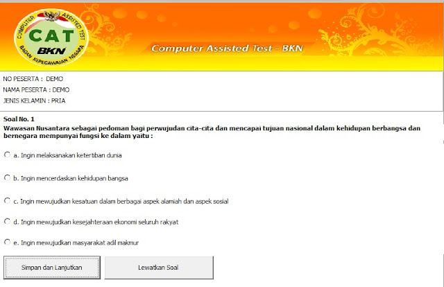 Sofware/Aplikasi CAT CPNS BKN Download Gratis Offline