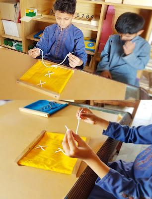 Montessori Lacing Frame Activity