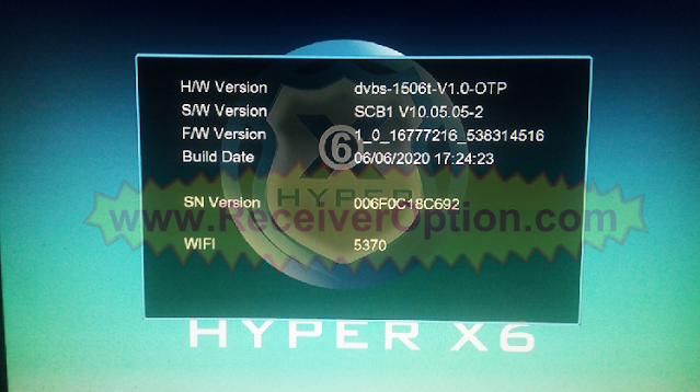 1506T 512 4M HYPER X6 HD RECEIVER NEW SOFTWARE WITH ECAST OPTION