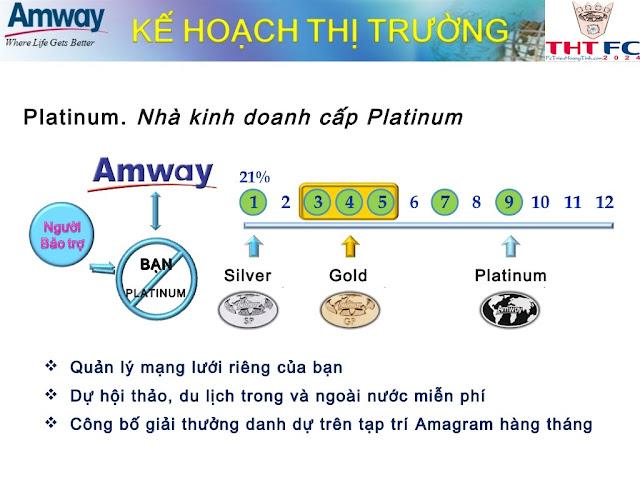 Chính sách trả thưởng, kinh doanh cùng với Amway