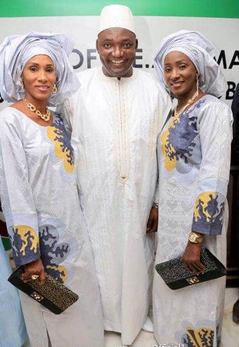Meet the new Gambian President, Adama Barrow and his two wives