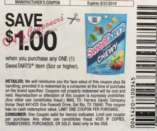 "$1.00/1 Sweetarts Coupon from ""SMARTSOURCE"" insert week of 6/30 (EXP:8/31)."