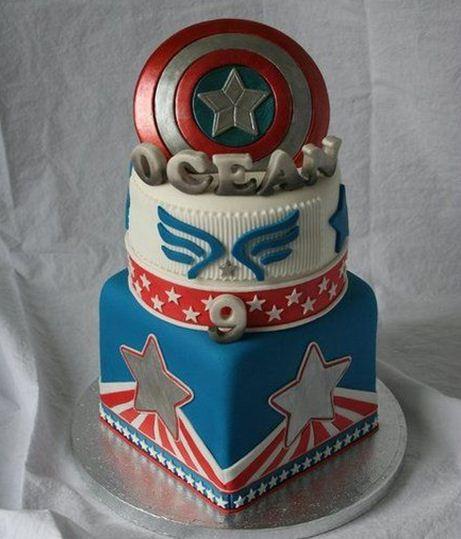 Gambar Kue Ulang Tahun Kapten Amerika
