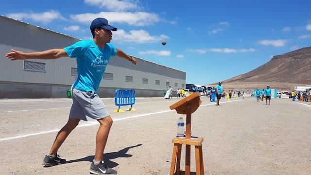 Fuerteventura.- Feaga 2019 : Cabildo lleva al recinto ferial de Pozo Negro una demostración del juego de Pelotamano