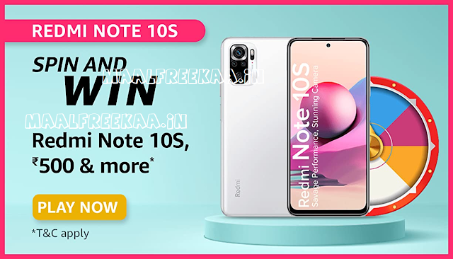 spin to get free cashback on redmi note 10s