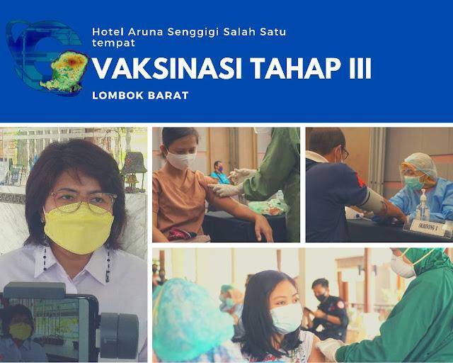Vaksinasi Tahap III dilaksankan di hotel Aruna Senggigi