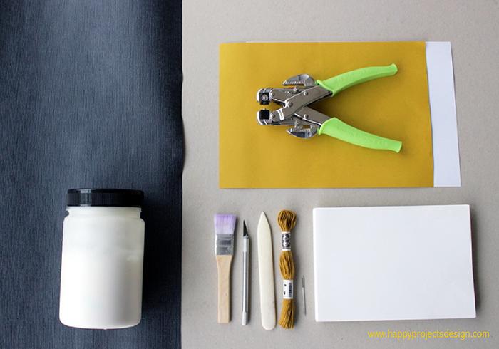 encuadernación japonesa DIY: materiales