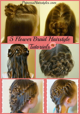 5 cute #braid #rose #hairstyles. Video tutorials.