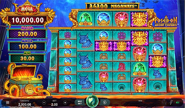 Main Gratis Slot Indonesia - Ancient Fortunes Poseidon Megaways Microgaming