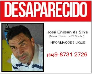 Continua desaparecido homem que veio visitar a família em Jaçanã