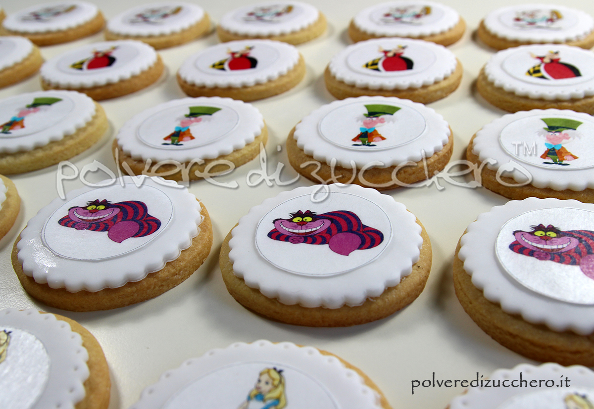 cake design pasta di zucchero polvere di zucchero biscotti decorati ricetta cialda wafer paper disney