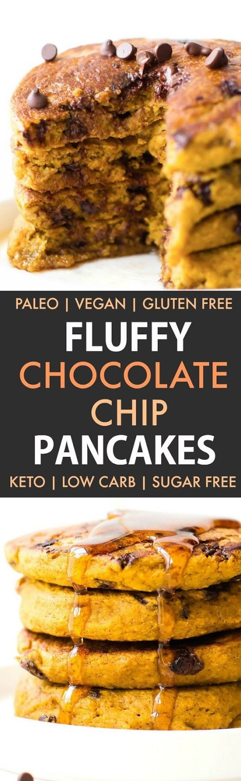Fluffy Low Carb Keto Pancakes (Paleo, Vegan)