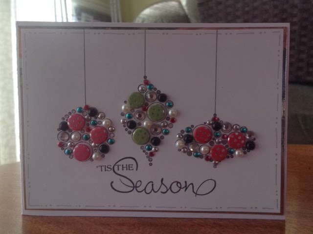 Encrusted Baubles Cards