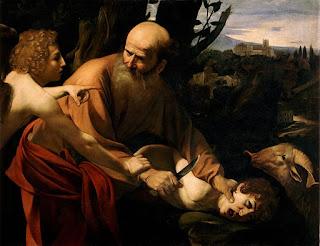 The Sacrifice of Isaac by Caravaggio, Uffizi version