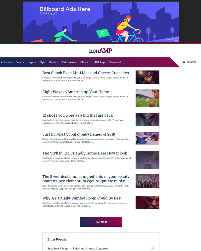 Nonamp - Mini Blogger Template, It's Not AMP