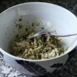 Leftover Chicken Pesto Wraps step 1