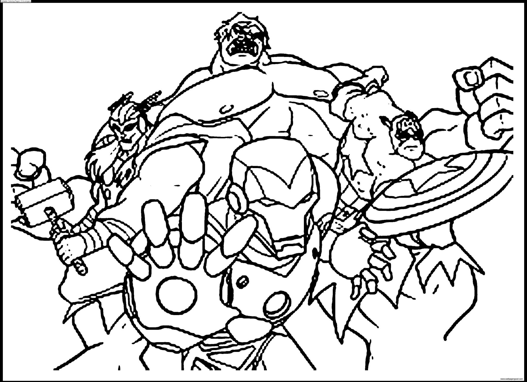 printable coloring pages of avengers
