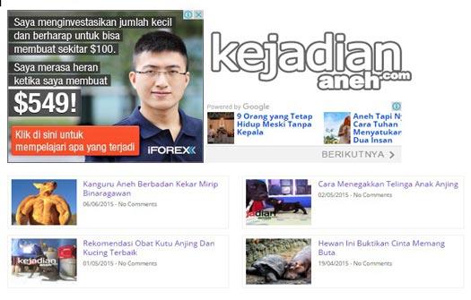 Cara Pasang Matched Content Iklan Adsense