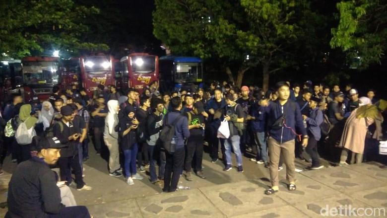 Akan Aksi ke Jakarta, Mahasiswa Semarang Tertahan di Polres Brebes