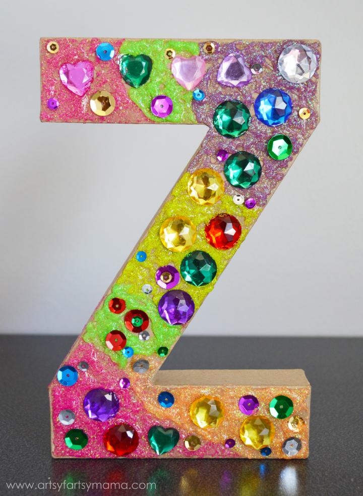 Kids DIY Letter Decor   artsy-fartsy mama