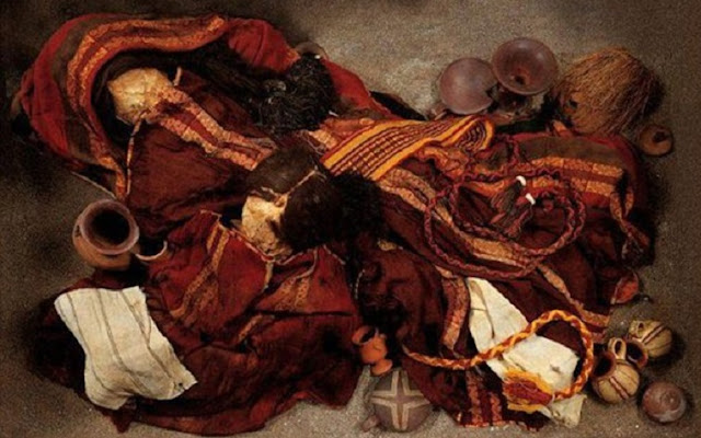Toxic pigment in Chilean mummies' clothes