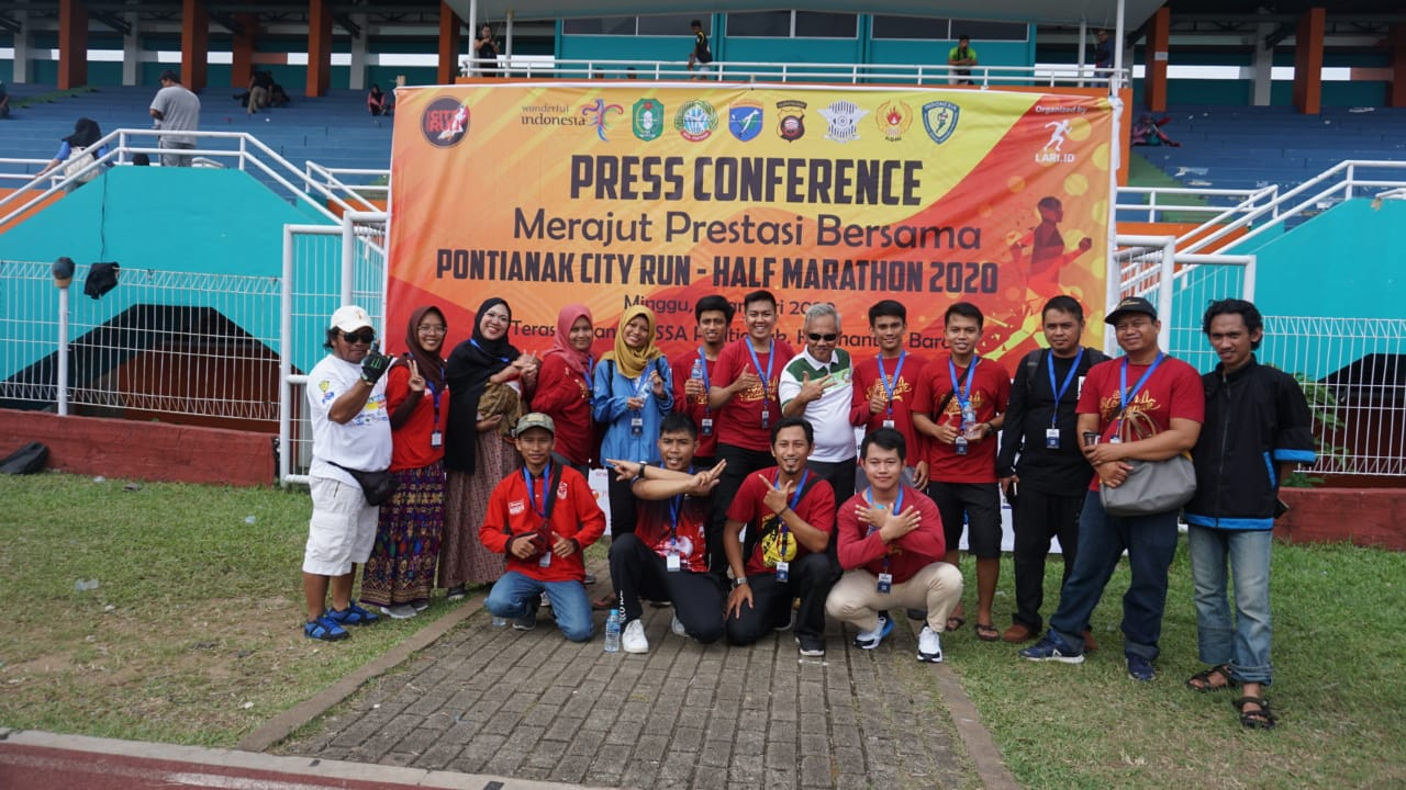 Press conference Pontianak city run half marathon 2020