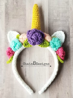 crochet unicorn headband