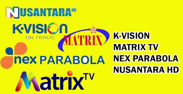 K-Vision Matrix TV Nex Parabola dan Nusantara HD Pindah ke Telkom 4