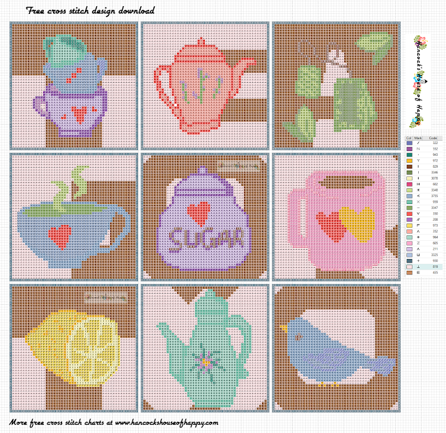 It's Tea Time! Free Full Coverage Cross Stitch Pattern for a Tasty Tea Time Sampler, tea party cross stitch, tea time cross stitch, tea drinker cross stitch, tea theme cross stitch, funny cross stitch, cross stitch funny, subversive cross stitch, cross stitch home, cross stitch design, diy cross stitch, adult cross stitch, cross stitch patterns, cross stitch funny subversive, modern cross stitch, cross stitch art, full coverage cross stitch, modern cross stitch, free full coverage cross stitch pattern, free cross stitch, free cross stitch design, free cross stitch designs to download, free cross stitch patterns to download, downloadable free cross stitch patterns, darmowy wzór haftu krzyżykowego, フリークロスステッチパターン, grátis padrão de ponto cruz, gratuito design de ponto de cruz, motif de point de croix gratuit, gratis kruissteek patroon, gratis borduurpatronen kruissteek downloaden, вышивка крестом, tea pot cross stitch pattern, tea cross stitch, tea lovers cross stitch design, gifts for tea lovers