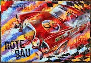 Artist Bernd Luz Highlights Classic Cars in Modern Mixed Media Masterpieces