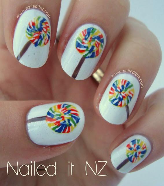 Lollipop Nail Art