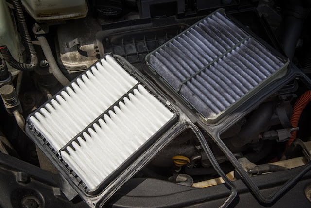Dirty engine air filters