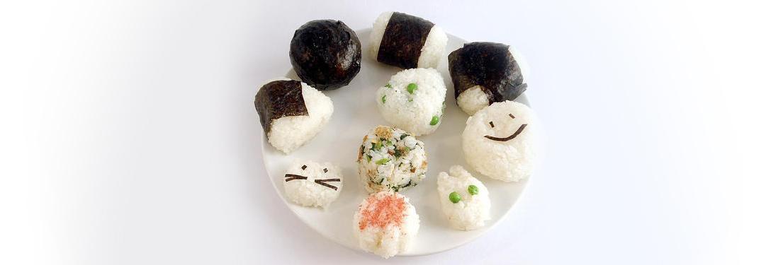 Bolitas de arroz diferentes estilos