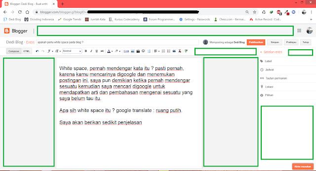white space pada blog